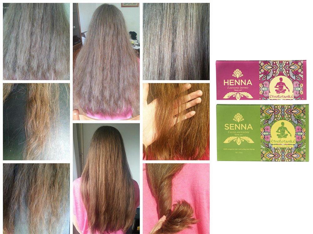 Naravna barva za lase henna in senna