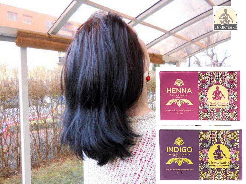 Barvanje z naravnimi barvili henna in indigo